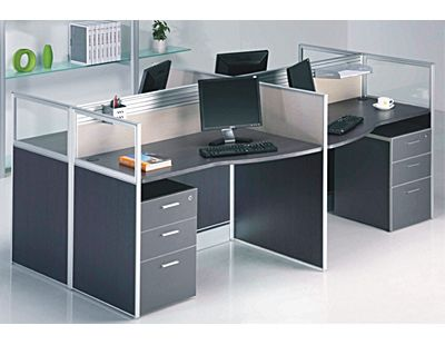 长沙时尚办公家具定制屏风工作位组合办公桌电脑桌卡座工位定做批发