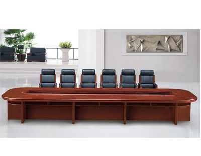 长沙6人会议桌实木会议桌
