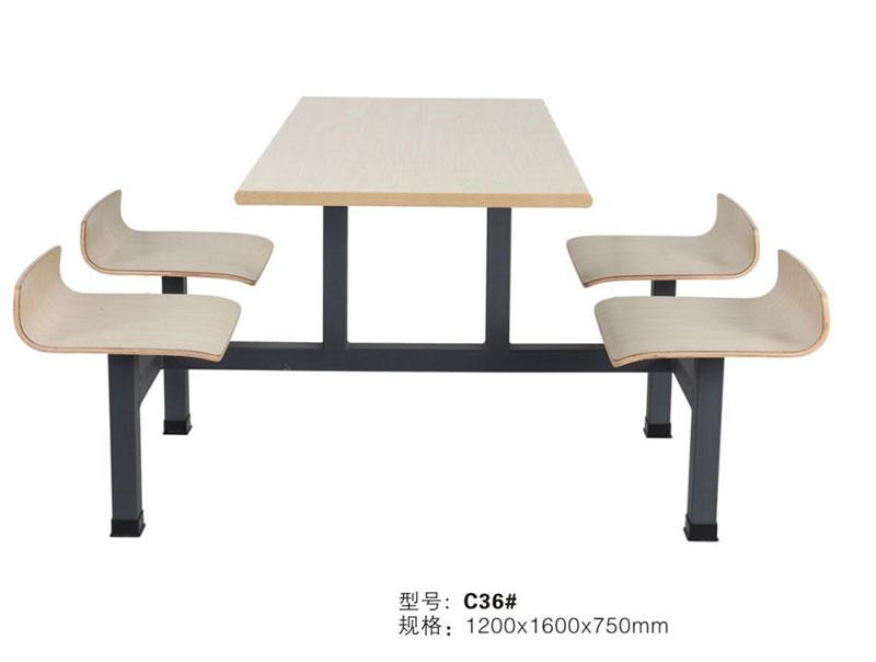 长沙快餐店连体餐桌椅