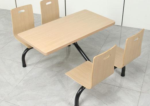 长沙四人位连体餐桌椅