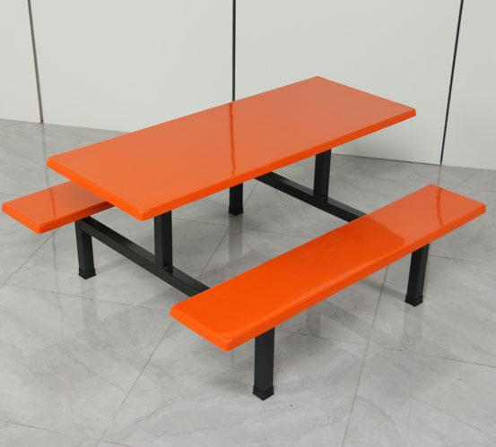 长沙食堂连体餐桌椅厂