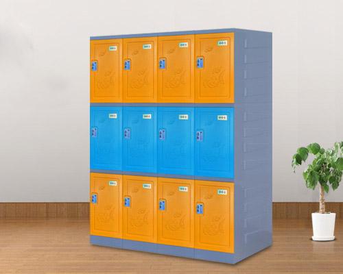 长沙三层abs塑料更衣柜洗浴室员工厂储物柜书包柜