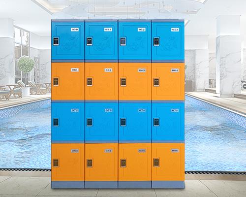 长沙三层ABS全塑料更衣柜学生储物柜书包柜