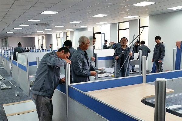 荣华办公家具安装团队